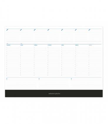 Table calendar Mapový stolní blok modrý 2019