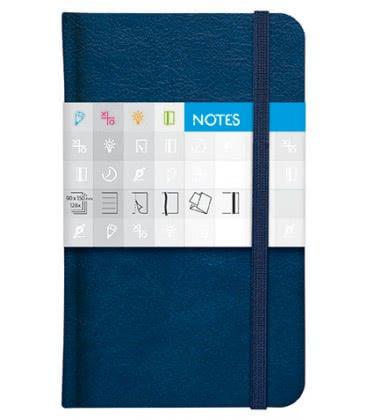 Notes kapesní Saturn čtverečkovaný modrý 2019