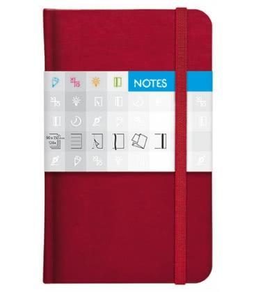 Notes kapesní Saturn čtverečkovaný červený 2019