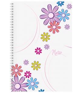 Notes A4 se spirálou čtverečkovaný Daisy bílý 2019