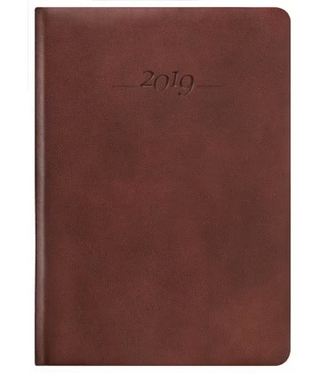Leather diary A5 daily Carus brown SK 2019