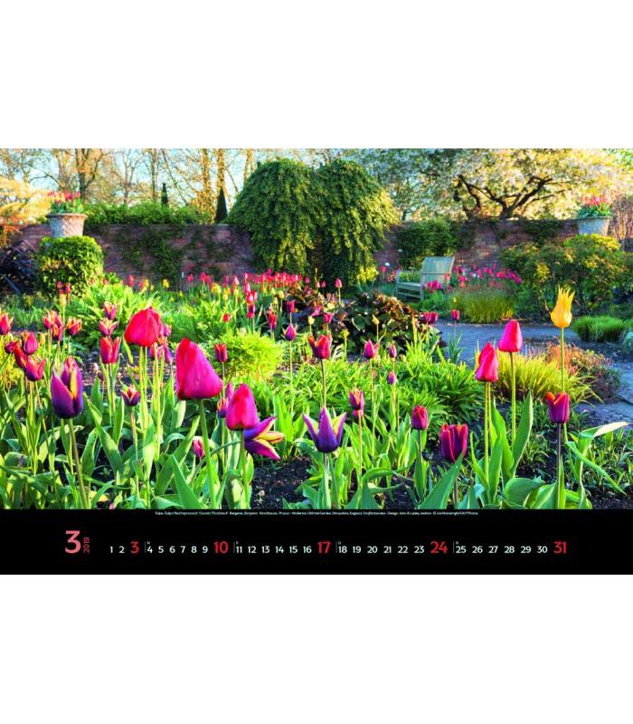 Nástěnný Kalendář Magické Zahrady Magische Gärten 2019