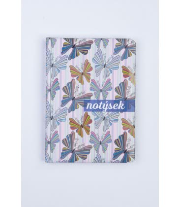 Notepad - Lined B6 Motýli - tištěný a laminovaný potah 2019