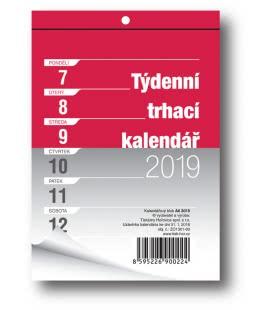 Nástěnný kalendář Blok A6 trhací týdenní 2019