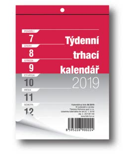 Wall calendar notepad A6 week 2019