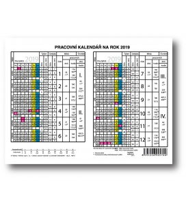 Table calendar Yearly Planing Card 2019