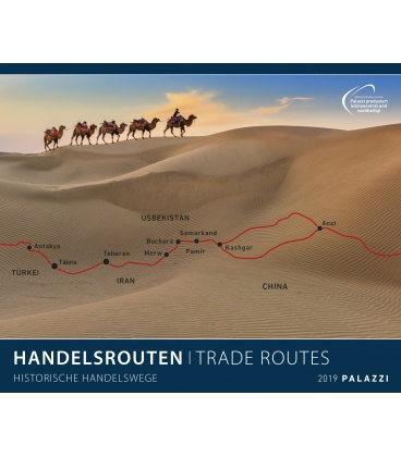 Nástěnný kalendář Obchodní cesty 2019 / HANDELSROUTEN I Trade Routes 2019