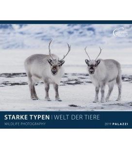 Wandkalender STARKE TYPEN I WELT DER TIERE 2019