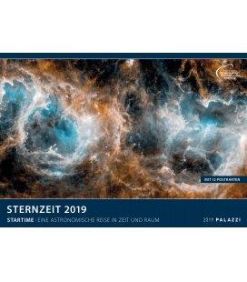 Nástěnný kalendář Hvězdný čas 2019 / STERNZEIT 2019