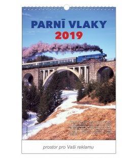 Nástěnný kalendář Parní vlaky 2019