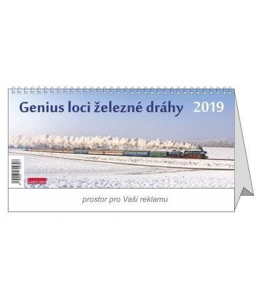 Stolní kalendář Genius loci železné dráhy 2019
