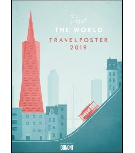 Nástěnný kalendář Plakáty z cest / Henry Rivers: Travelposter 2019