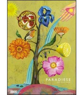 Nástěnný kalendář Ráje / Olaf Hajek: Paradiese 2019