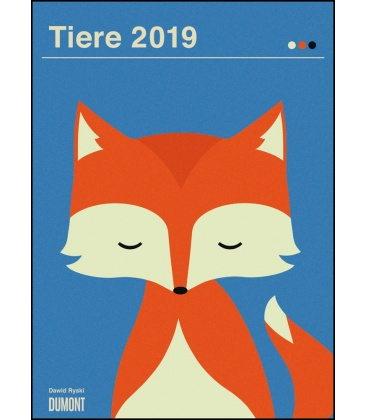 Nástěnný kalendář Zvířata / Dawid Ryski: Tiere 2019