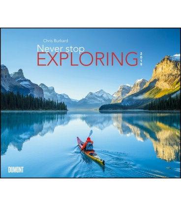 Nástěnný kalendář Stále objevujte / Chris Burkard: Never stop exploring 2019