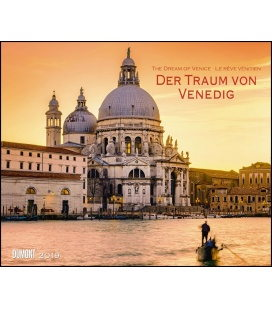 Nástěnný kalendář Sen o Benátkách / Der Traum von Venedig 2019