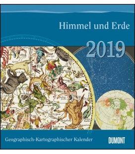 Nástěnný kalendář Mapy / Geograph.-Kartograph. Kalender: Himmel und Erde 2019