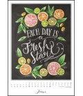 Nástěnný kalendář Tabule štěstí / Chalkboard Happiness 2019