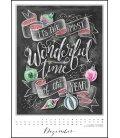 Wall calendar Chalkboard Happiness 2019
