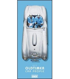 Nástěnný kalendář Oldtimer / B. Schmerl: Oldtimer - Car People 2019