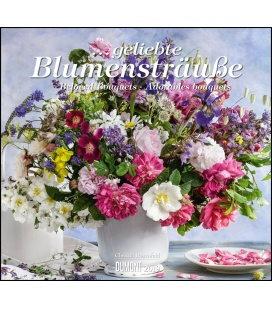 Nástěnný kalendář Kytice / ...geliebte Blumensträuße 2019
