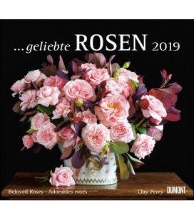 Nástěnný kalendář Růže / ...geliebte Rosen 2019