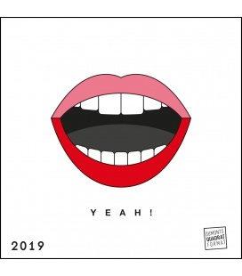 Nástěnný kalendář redfries YEAH! / redfries im Quadrat: YEAH! 2019