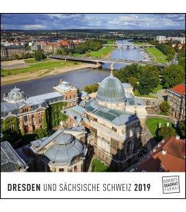 Nástěnný kalendář Drážďany / Dresden 2019