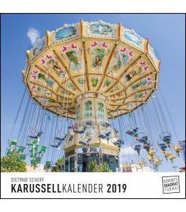 Nástěnný kalendář Kolotoče / Karussellkalender 2019