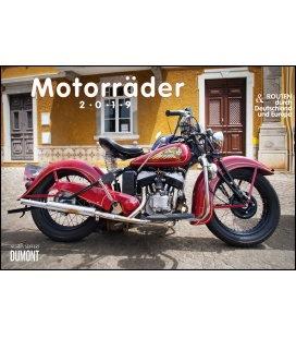 Nástěnný kalendář Motocykly & Trasy / Motorräder & Routen 2019