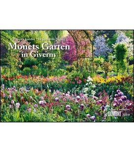 Nástěnný kalendář Monetova zahrada v Giverni / Monets Garten in Giverny 2019