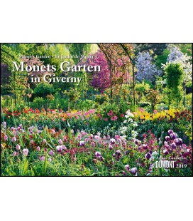 Wall calendar Monets Garten in Giverny 2019