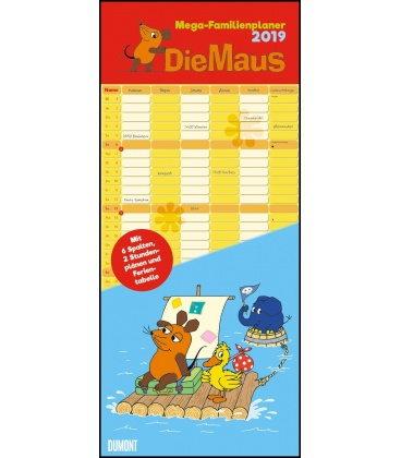Nástěnný kalendář Rodinný plánovač Myš / Megaplaner Die Maus 2019