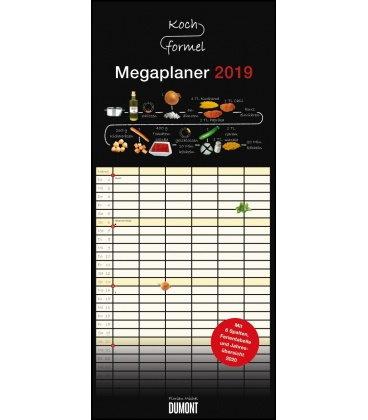 Nástěnný kalendář Rodinný plánovač Vaření - recepty / Megaplaner Kochformel 2019