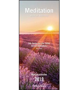 Nástěnný kalendář Rodinný plánovač Meditace / Meditation T&C 2019