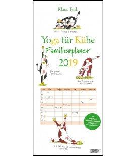 Nástěnný kalendář Rodinný plánovač Jóga s kravičkou / Yoga für Kühe 2019