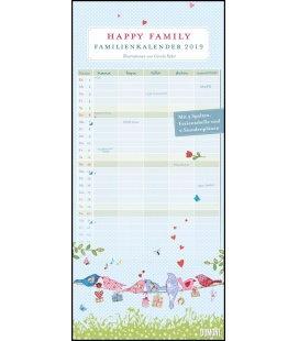 Wall calendar Familien Happy Family 2019