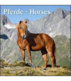 Nástěnný kalendář Koně / Pferde T&C 2019