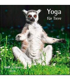 Wandkalender Yoga für Tiere T&C 2019