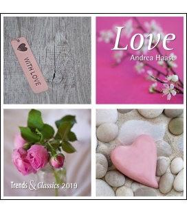 Nástěnný kalendář Láska / Love T&C 2019