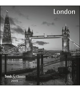 Nástěnný kalendář Londýn / London s/w T&C 2019