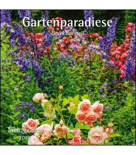 Nástěnný kalendář Zahrady / Gartenparadiese T&C 2019