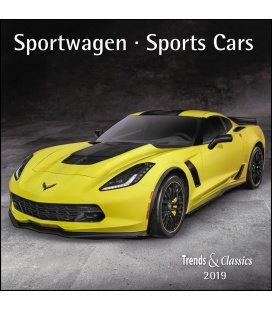 Nástěnný kalendář Sportovní auta / Sportwagen T&C 2019