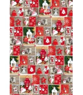 Vánoční dárkový balicí papír v roličce - 2x 70 x 100 cm - Vánoční dekorace
