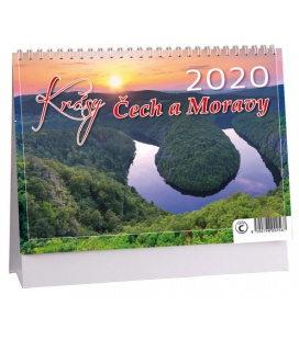 Table calendar Krásy Čech a Moravy 2020