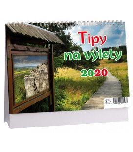 Table calendar Tipy na výlet 2020