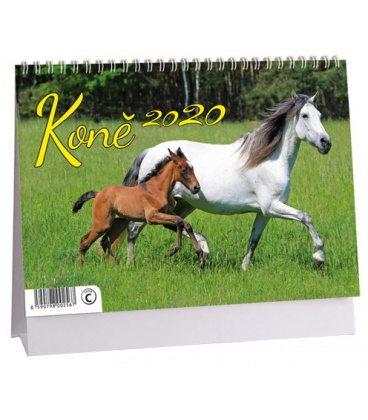 Table calendar Koně 2020