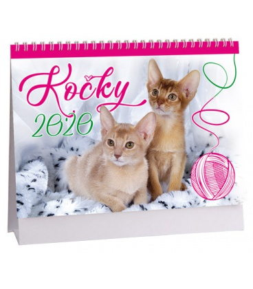 Table calendar Kočky  2020
