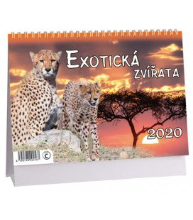 Table calendar Exotická zvířata 2020