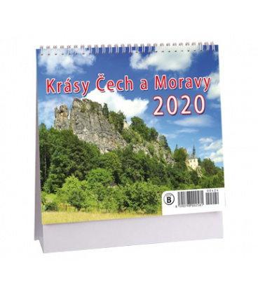 Table calendar Krásy Čech a Moravy - MINI 2020